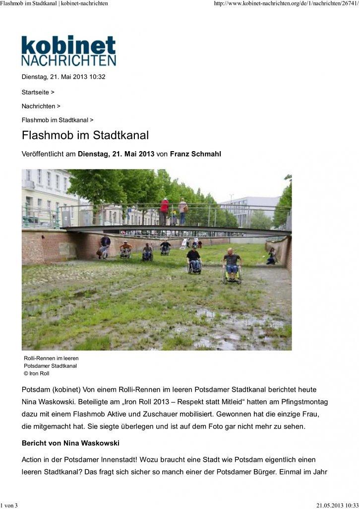 Flashmob in Stadtkanal