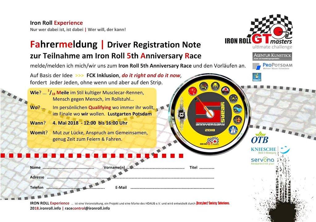 Formular zur Fahrermeldung